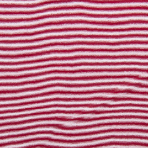 Jersey fabric Stripes Red