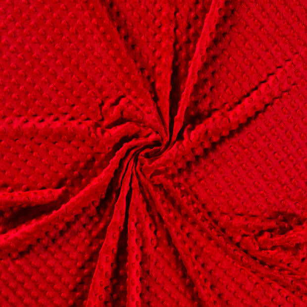 Minky fabric Red