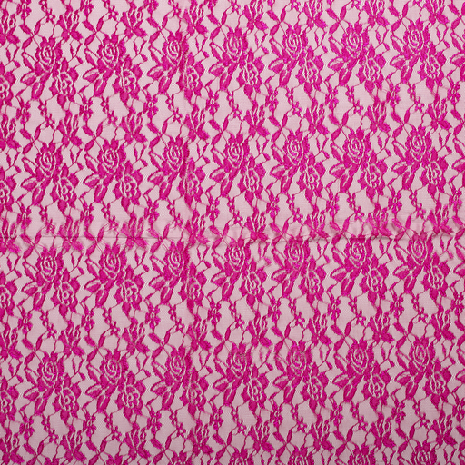 Lace fabric Fuchsia slightly shiny