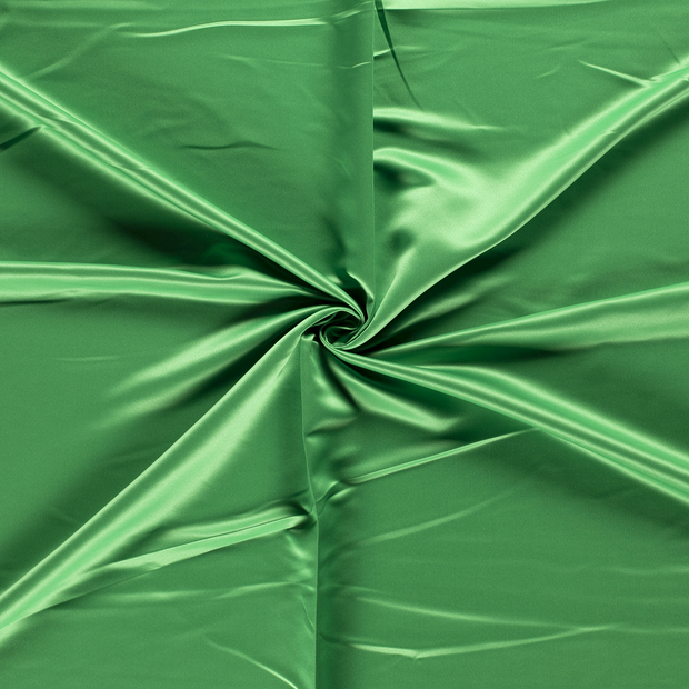 Satin fabric Forest Green