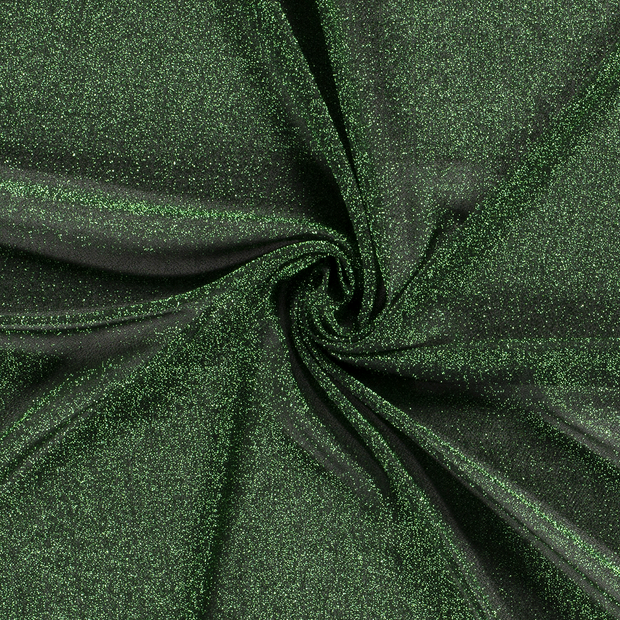 Sequinned fabric fabric Unicolour Green