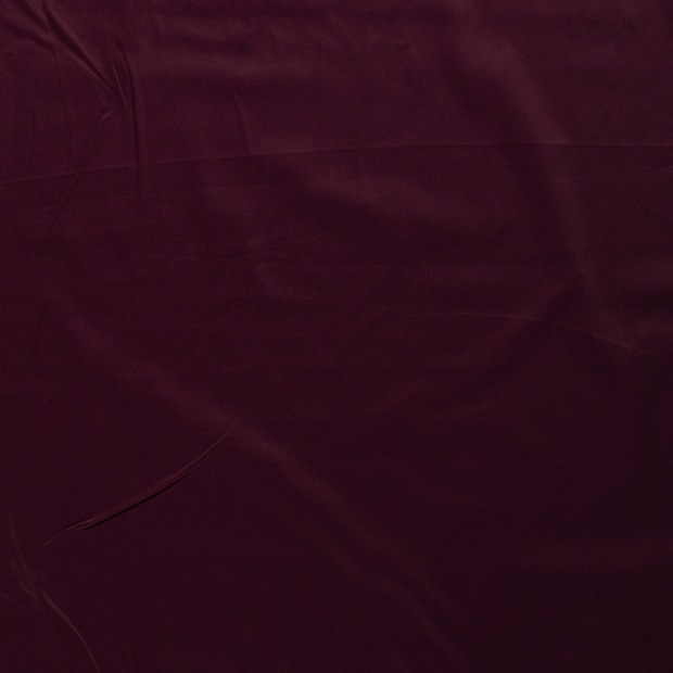 Satin fabric Wine red silk matte