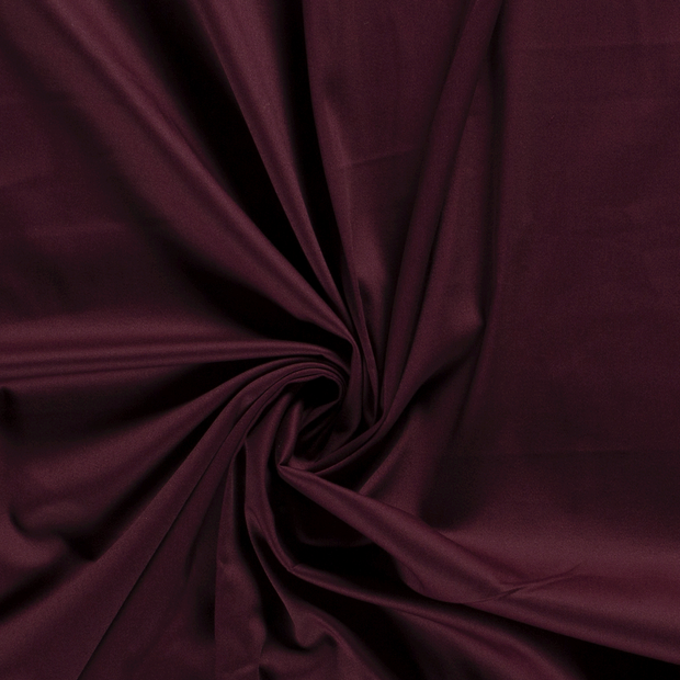 Satin fabric Unicolour Wine red