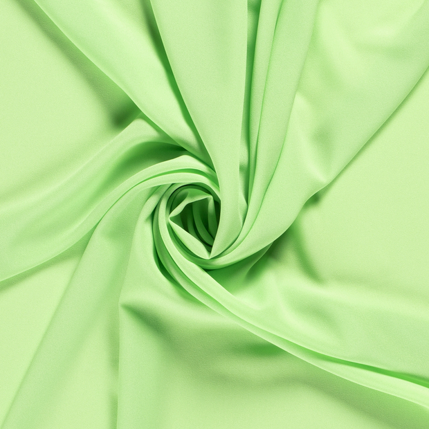 Georgette fabric Unicolour Lime Green