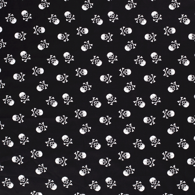 Poplin fabric Black soft