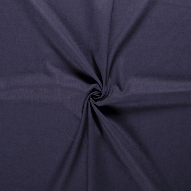 Pure linen fabric Steel Blue