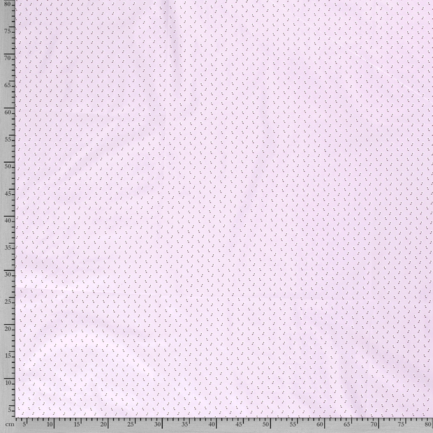 Poplin fabric Flowers Light Pink