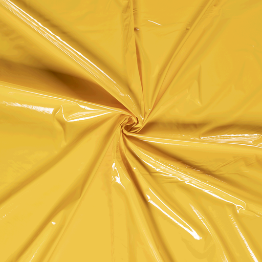 Lacquer fabric Yellow PUR-coated