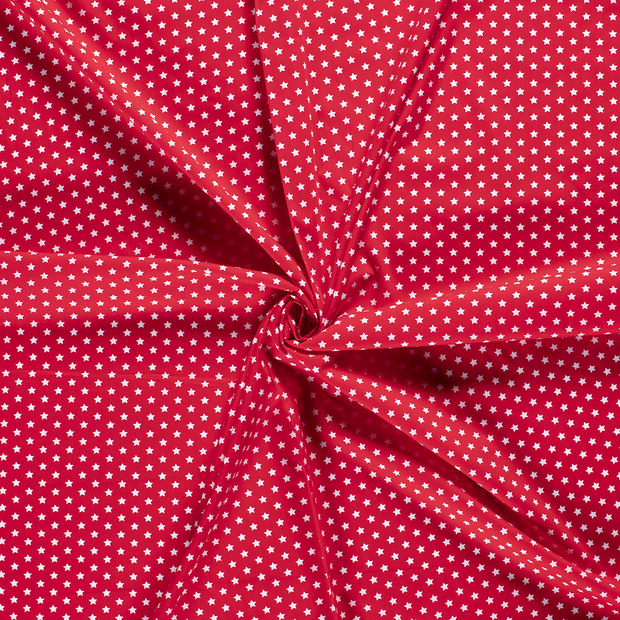 Poplin fabric Red printed