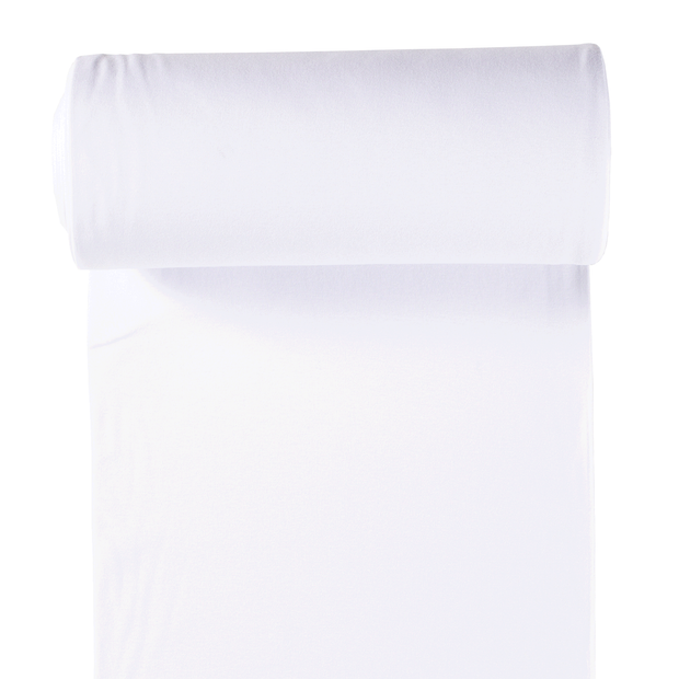 Cuff material fabric Optical White matte
