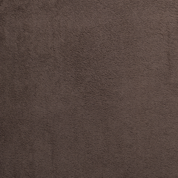 Towelling fabric Taupe Brown matte