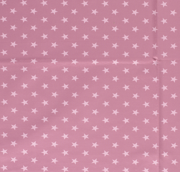 French Terry fabric Stars Old Pink