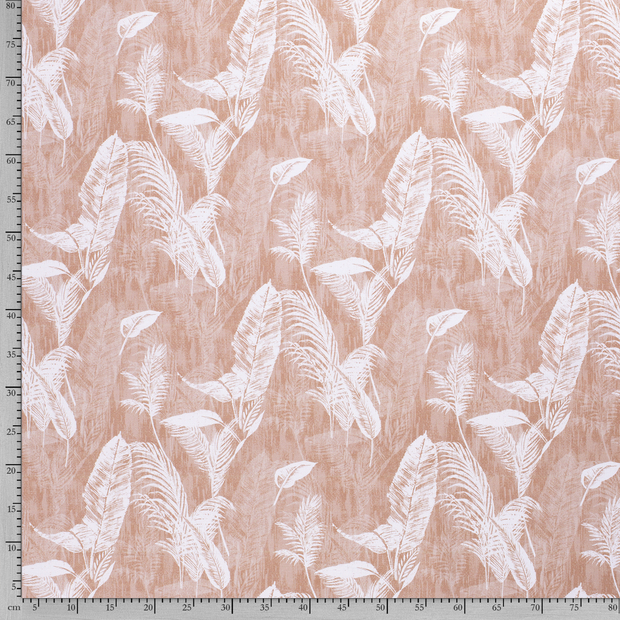 Panama fabric Old Pink digital printed