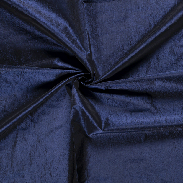 Taffeta fabric Cobalt crushed