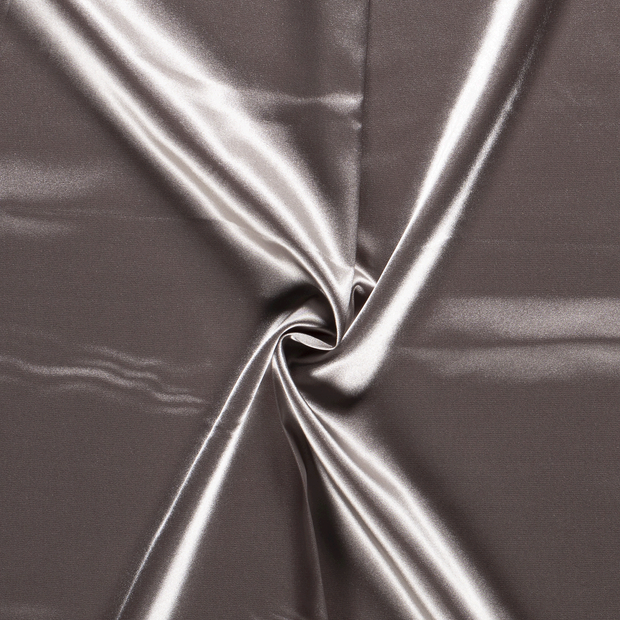 Satin fabric Unicolour Light Grey