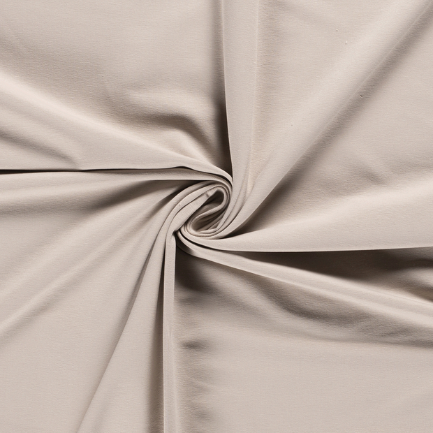 French Terry fabric Unicolour Beige