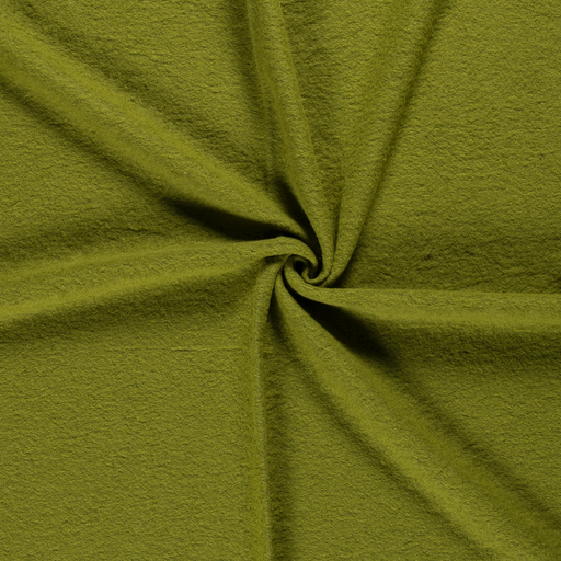 Boiled wool fabric Lime Green