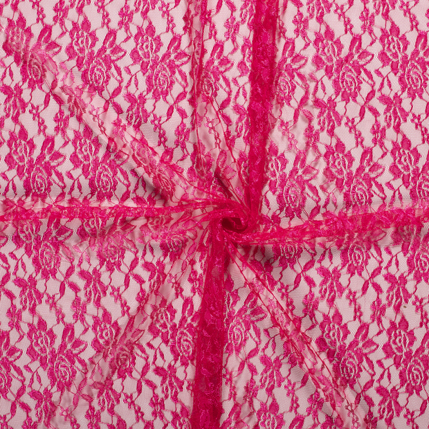 Lace fabric Fuchsia