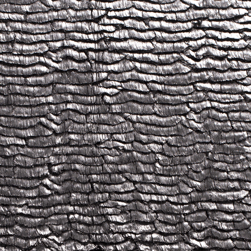 Faux fur fabric Abstract Silver