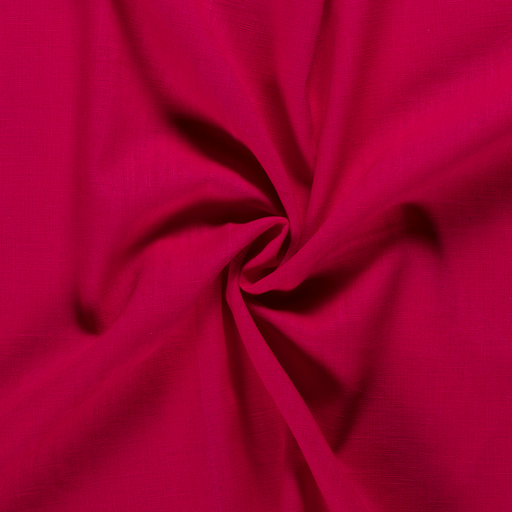Pure linen fabric Unicolour Fuchsia