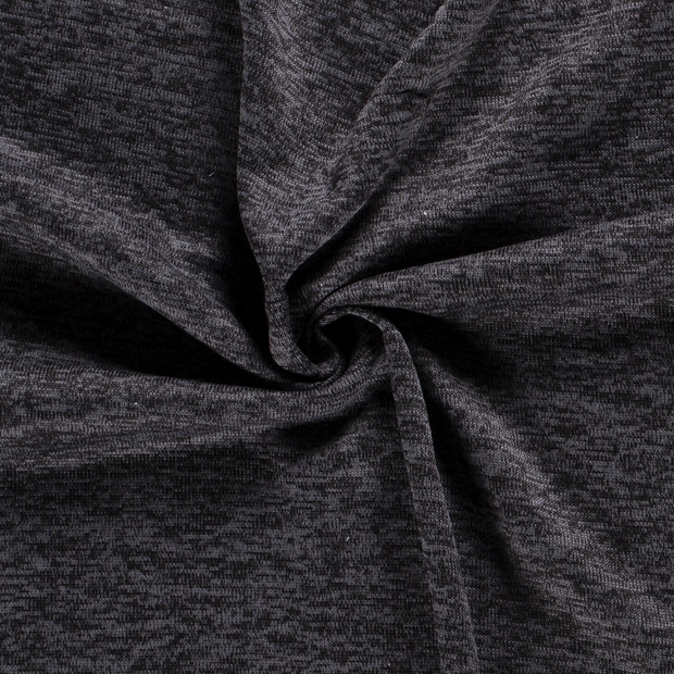 Knitted fabric fabric Unicolour Dark Grey