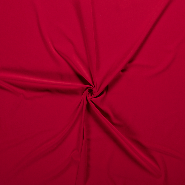 Crepe Fabric fabric Red