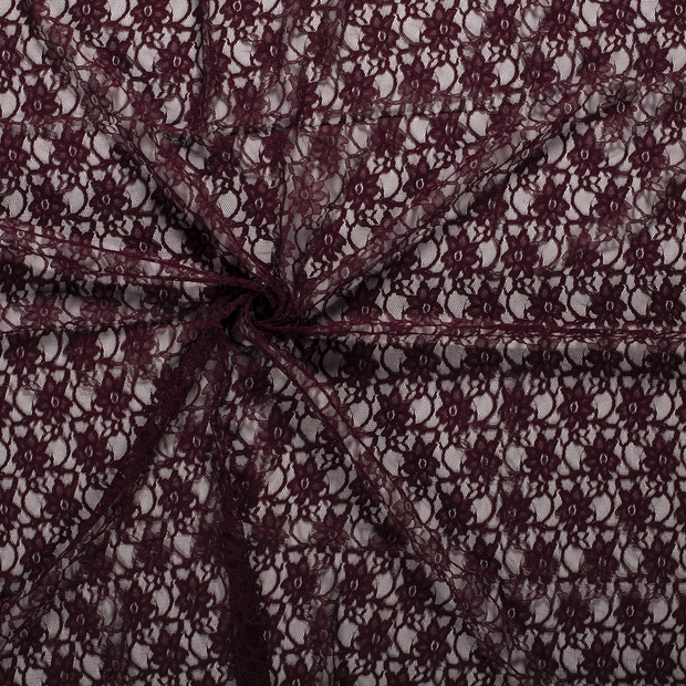 Lace fabric Bordeaux
