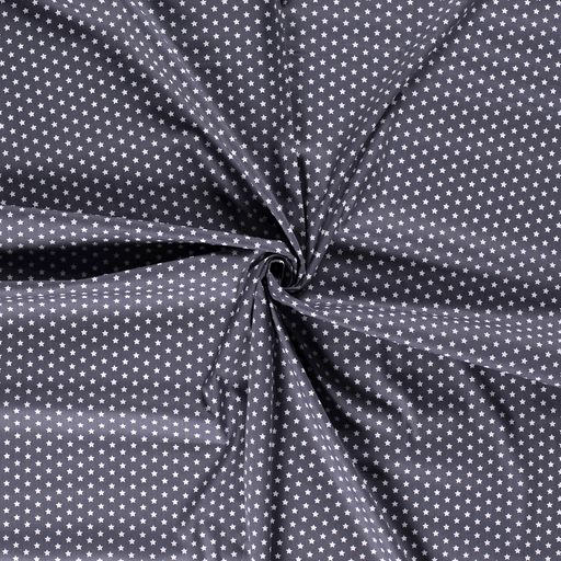 Poplin fabric Middle Grey printed
