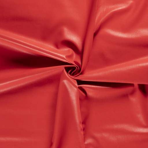 Imitation leather fabric Red backed