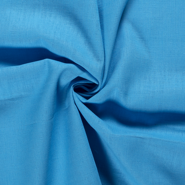 Pure linen fabric Unicolour Aqua