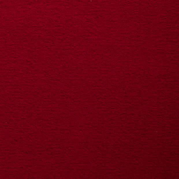 Boiled wool fabric Red matte