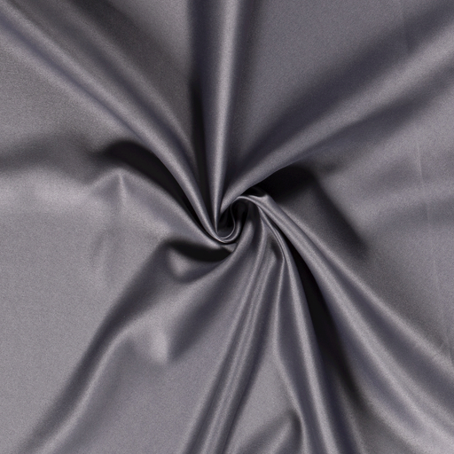 Satin fabric Unicolour Taupe Brown