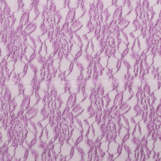 Lace fabric Unicolour Lila