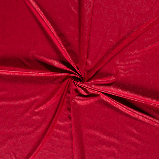 Faux suede fabric Dark Red