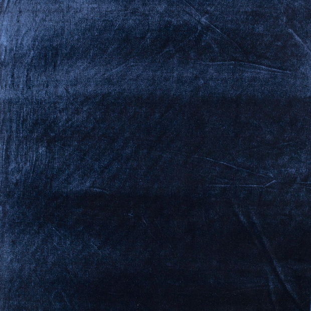 Velvet fabric Navy slightly shiny