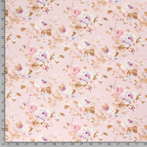 Ottoman fabric Light Pink printed