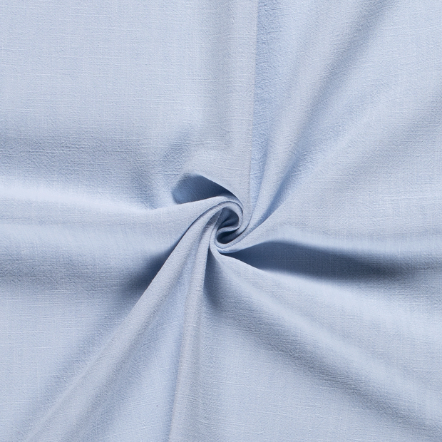 Ramie Linen fabric Unicolour Light Blue