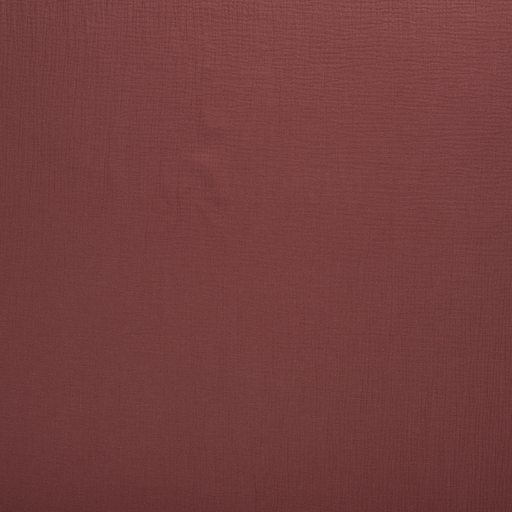 Muslin fabric Brique matte