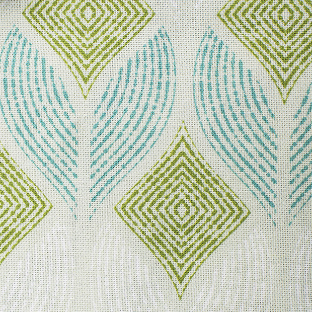 Panama fabric Abstract Petrol