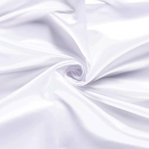 Satin fabric Unicolour Optical White