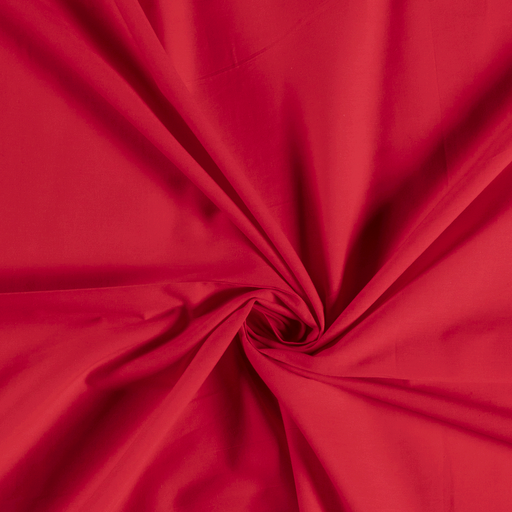 Voile fabric Unicolour Red