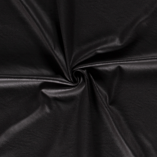 Imitation leather fabric Unicolour Black