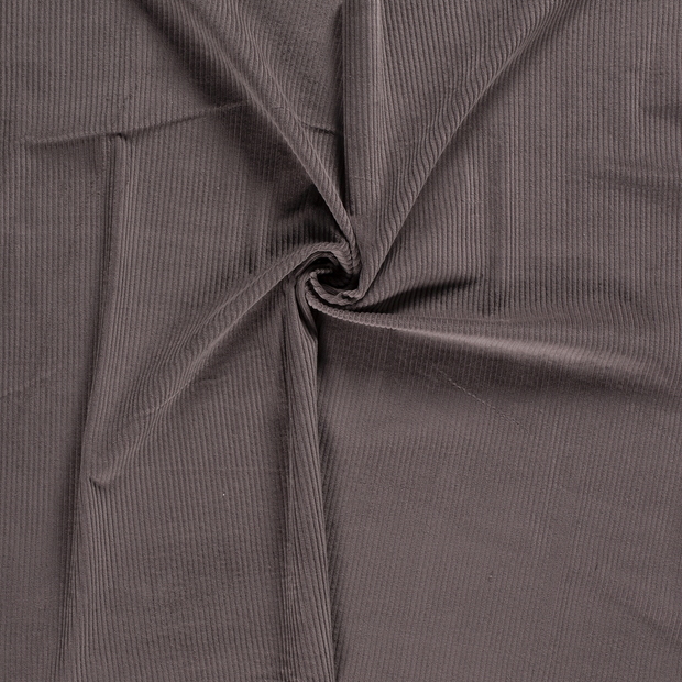 Corduroy fabric Taupe Brown