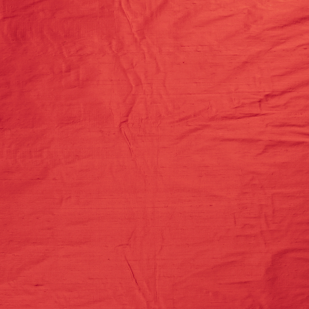 Silk Dupion fabric Red slightly shiny