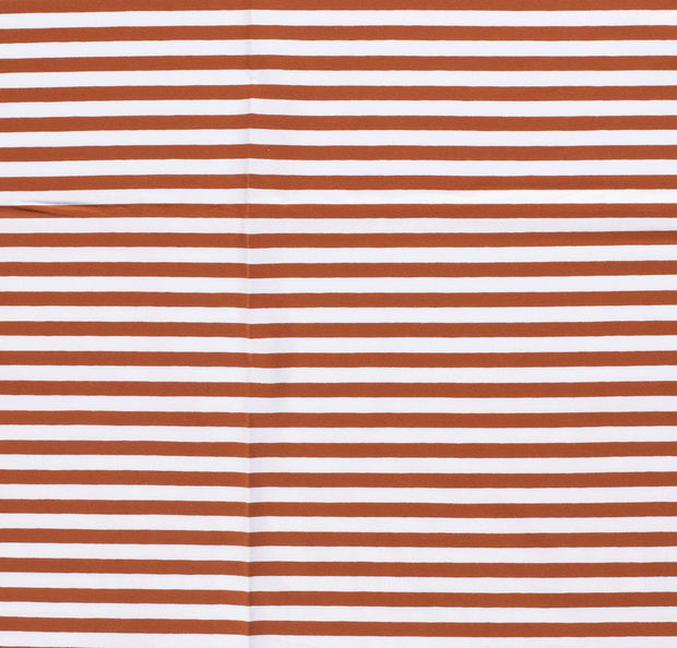 Tricot fabric Stripes Brique