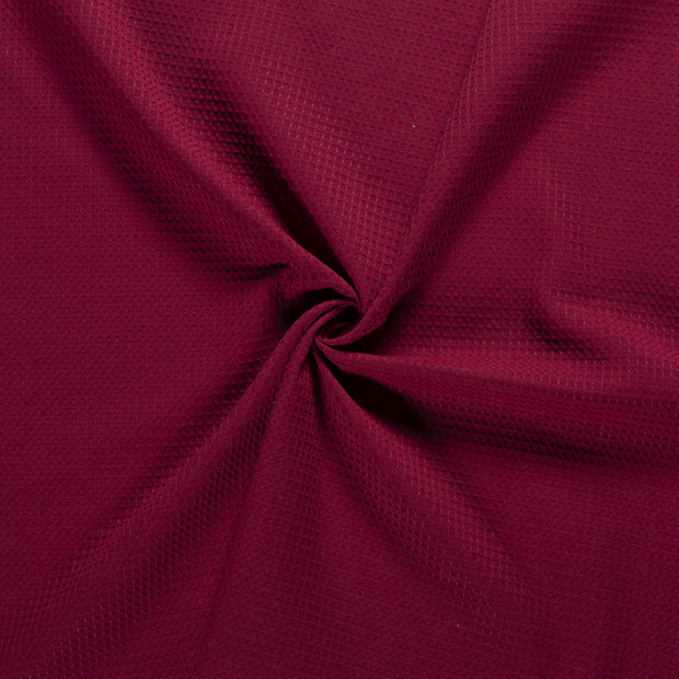 Towelling fabric Bordeaux