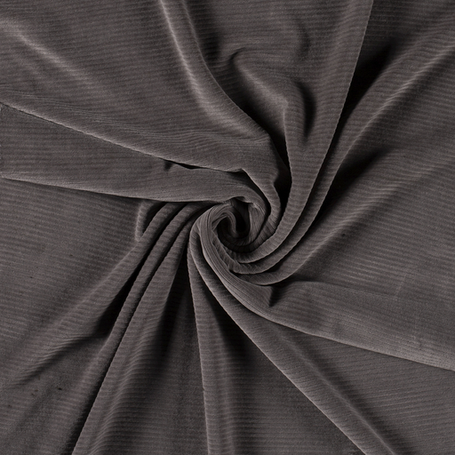 Corduroy fabric Middle Grey