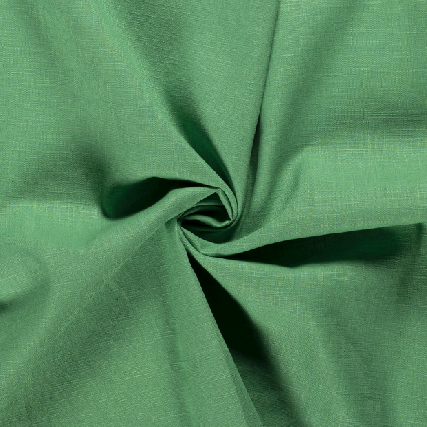 Pure linen fabric Unicolour Green