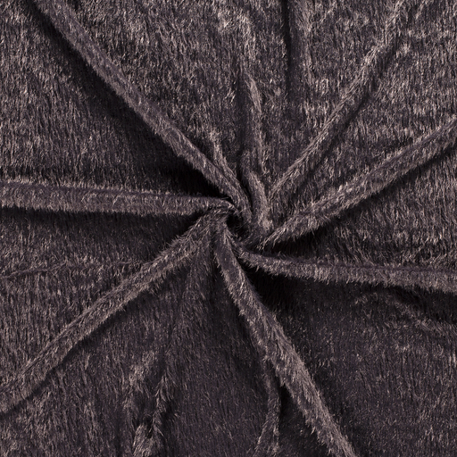 Faux fur fabric Dark Grey