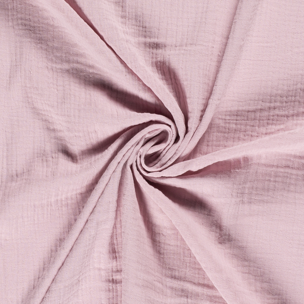 Muslin fabric Unicolour Old Pink